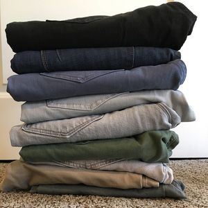 Pile of assorted pants